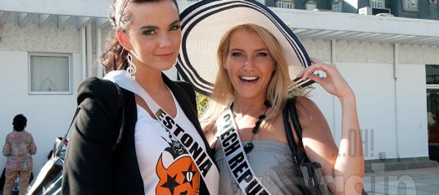 Miss Universe 2011 kandidaadid külastasid kuulsat Bandeirantes tele- ja raadiokeskust Brasiilias São Paulo's