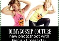 Ohmygossip Couture moe-eri kuulsa Soome fitness modell Janni Hussi'ga