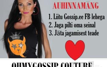"""Auhinnamäng: Liitu Gossip.ee lehega Facebookis ja võida sõbrapäevaks Ohmygossip Couture 112.99 maksvad """"My Choice"""" kõrvarõngad!"""