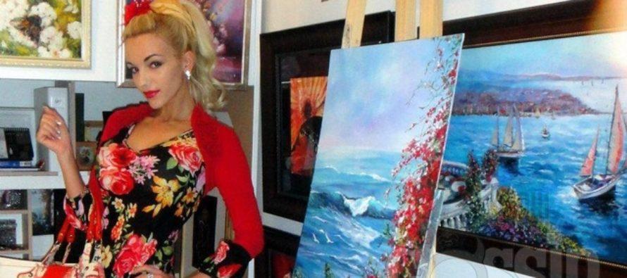Kunstnik Olja Raag avas eelmisel nädalal oma esimese maalinäituse. Galerii!