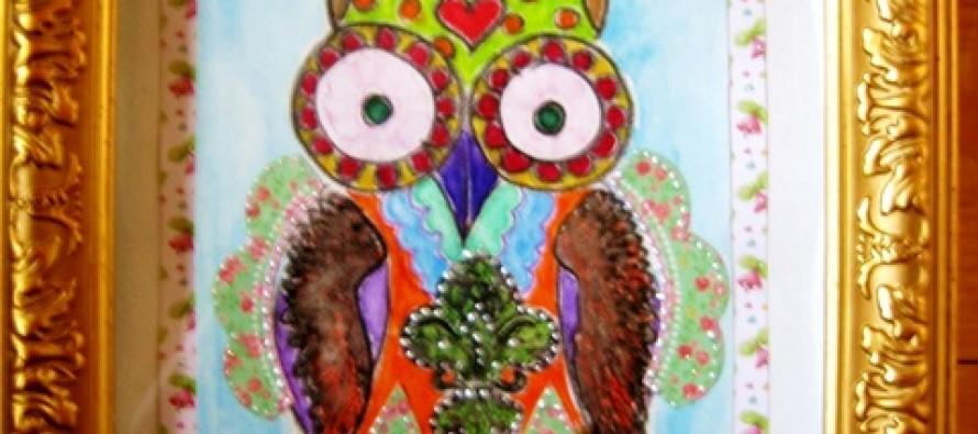 """Helena-Reet: Kuidas valmib Ohmygossip Couture'i öökullipilt """"Lovely owl"""""""