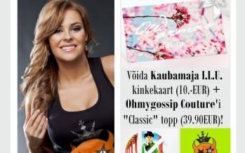 Auhinnamäng: Liitu Gossip.ee lehega Facebookis ja võida I.L.U kinkekaart ning Ohmygossip Couture'i topp