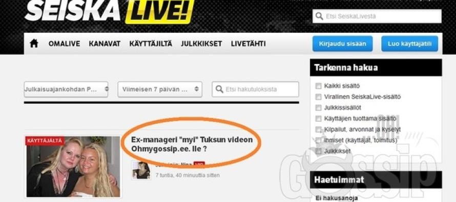 Johanna Tukiaineni ex-manager Tuija Järvinen ei müünud Ohmygossip.ee'le skandaalset videot