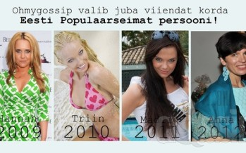 "Ohmygossip Awards: ""Populaarseim persoon 2013"" NOMINENDID!"