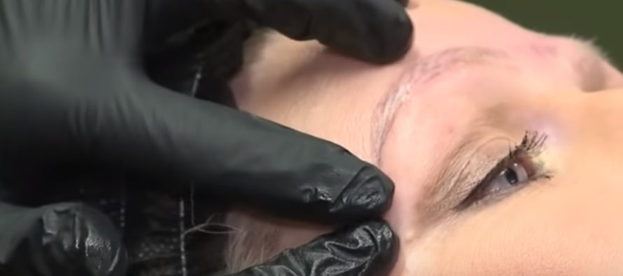Vaata VIDEOST, kuidas naise kulmud microbladinguga ära rikuti – tulemuseks 4 kulmu