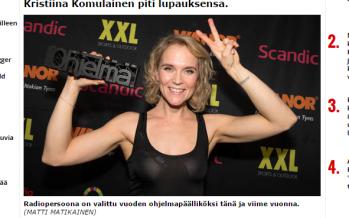 Soome raadiohääl Kristiina Komulainen lasi pähe tätoveeringu teha