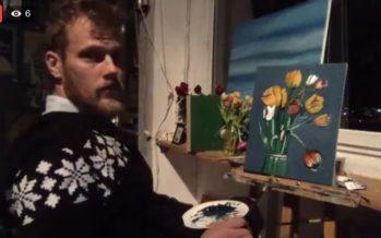 """Martin Saar müüb Facebook´i """"OTSE-EETRIS"""" just praegu valmivat maali + LISATUD VIDEO!"""