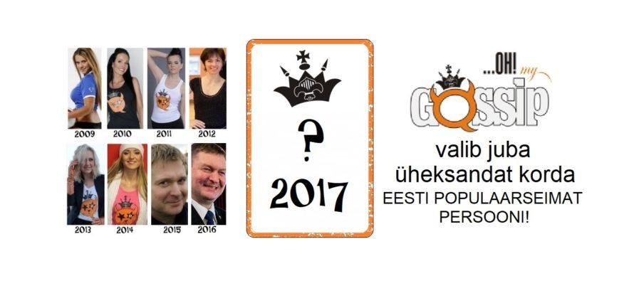 "OHMYGOSSIP Awards: ""Populaarseim persoon 2017"" avaldatakse 31.detsembril!"