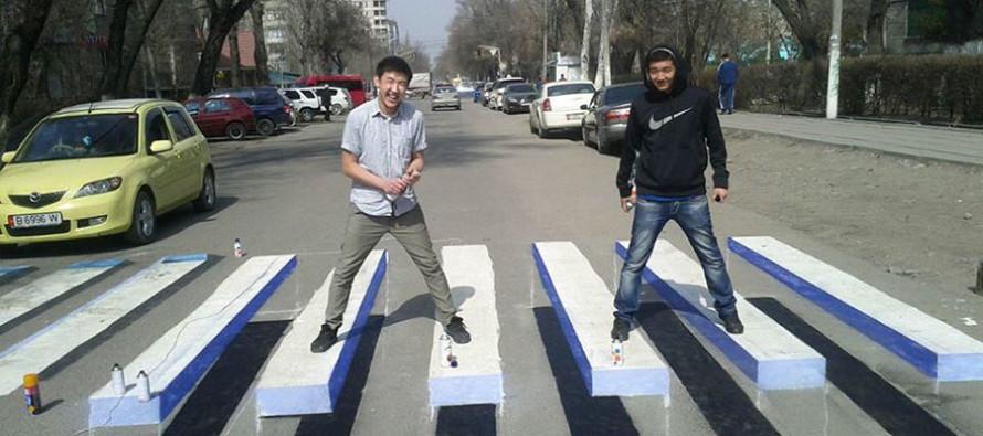 Kui ülekäigurada oleks asfaldil 3D-na, kas see tõmbaks rohkem autojuhtide tähelepanu?