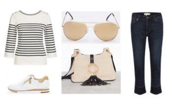 SOODNE shopping – Stiilne beezi ja valgega komplekt (Look #2)